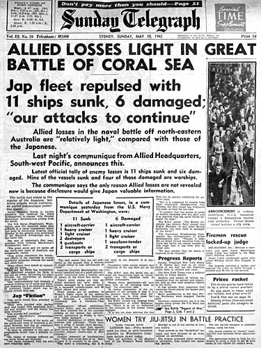 importance of the battle of coral The battle of the coral sea was important because it thwarted the japanese attempt to invade port moresby in new guinea, depriving them of a secure zone between japan and australia.